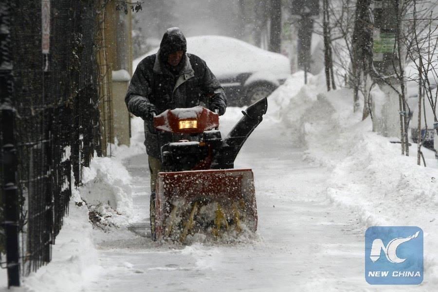 พายุหิมะพัดโหมกระหน่ำในโรมาเนีย